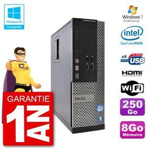 UNITÉ CENTRALE  PC Dell 3010 SFF Intel G640 RAM 8Go Disque Dur 250
