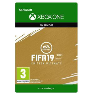 JEU XBOX ONE À TÉLÉCHARGER FIFA 19 Ultimate Edition Xbox One à télécharger