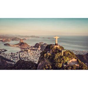 AFFICHE - POSTER Poster Affiche Rio de Janeiro Bresil Panorama Vill