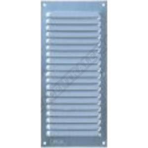 Grille persienne aluminium moustiquaire 10x30 cm blanc