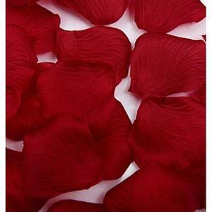 VIN ROUGE Pétales de rose en forme de coeur rouge rouge vin