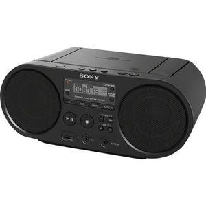 BALADEUR CD - CASSETTE SONY - Boombox  ZSPS50B.CED CD USB - AM-FM - Noir