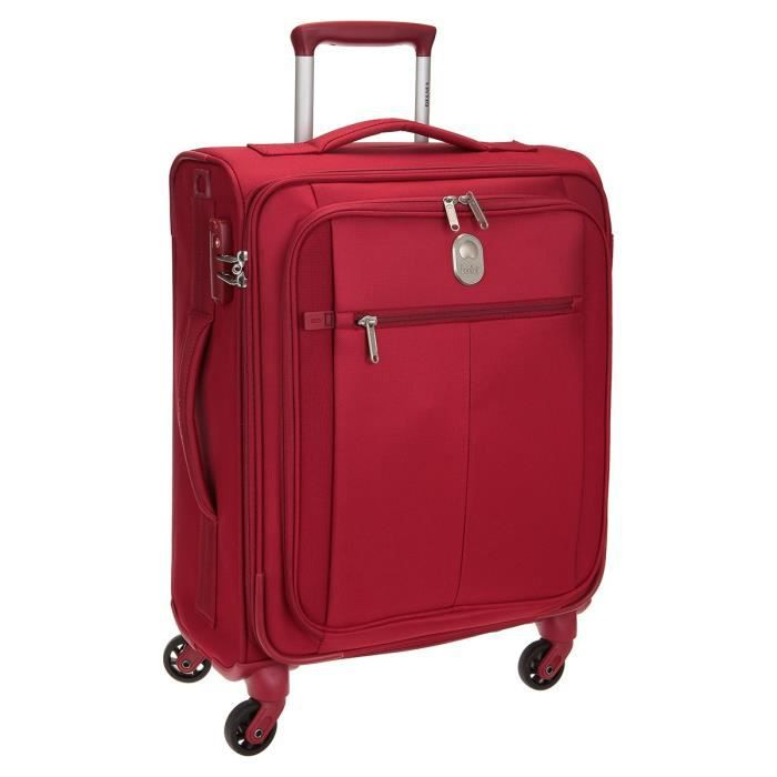 visa delsey valise cabine low cost souple 4 roues 55cm pin up5 rouge rouge achat vente. Black Bedroom Furniture Sets. Home Design Ideas