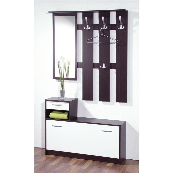 vestiaire easy achat vente meuble d 39 entr e vestiaire easy blanc weng panneaux de particules. Black Bedroom Furniture Sets. Home Design Ideas