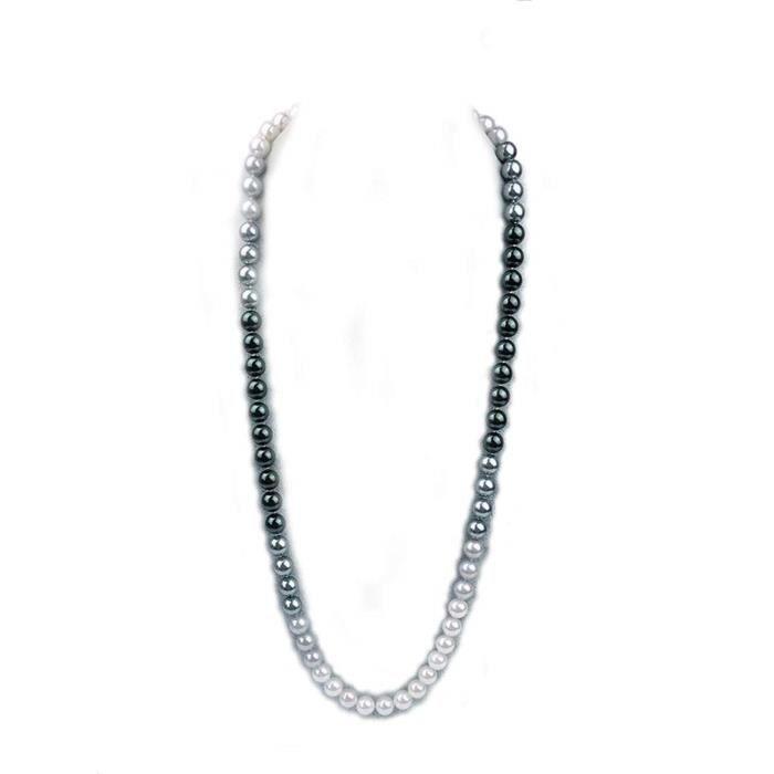Collier QRR3K de perles long coquillage de perles bijoux fantaisie chandail 32