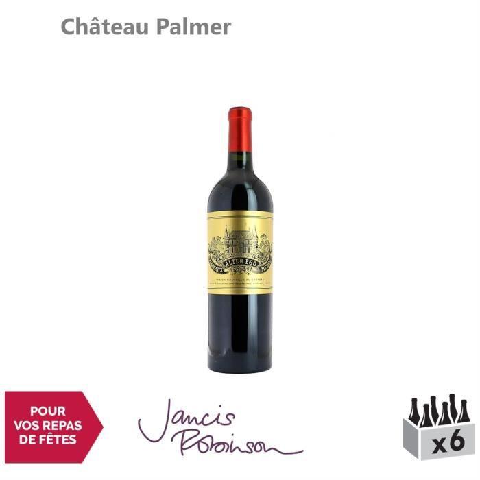 Château Palmer Alter Ego de Palmer Rouge 2016 - Lot de 6x75cl - Appellation AOC Margaux - Vin Rouge de Bordeaux - 16.5-20 Jancis