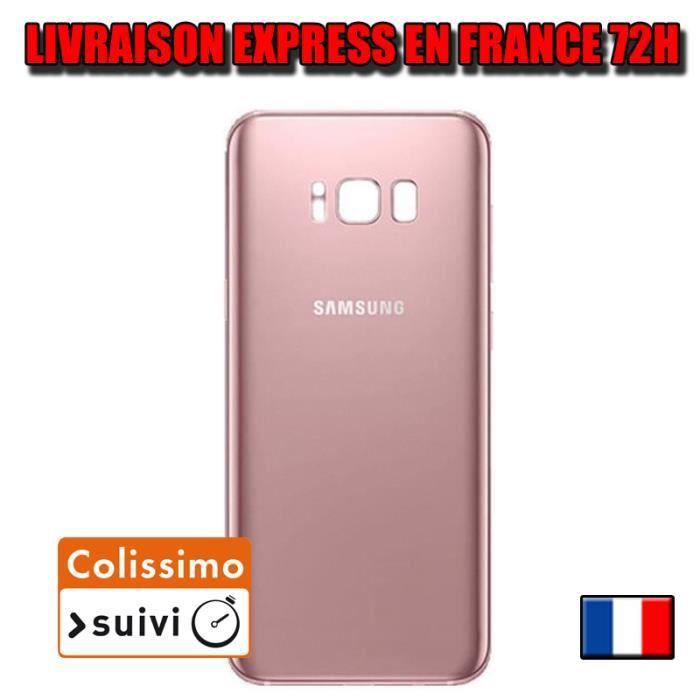 VITRE ARRIERE SUR CHASSIS Samsung Galaxy S8 PLUS G955 ROSE POUDRÉ VITRE AR