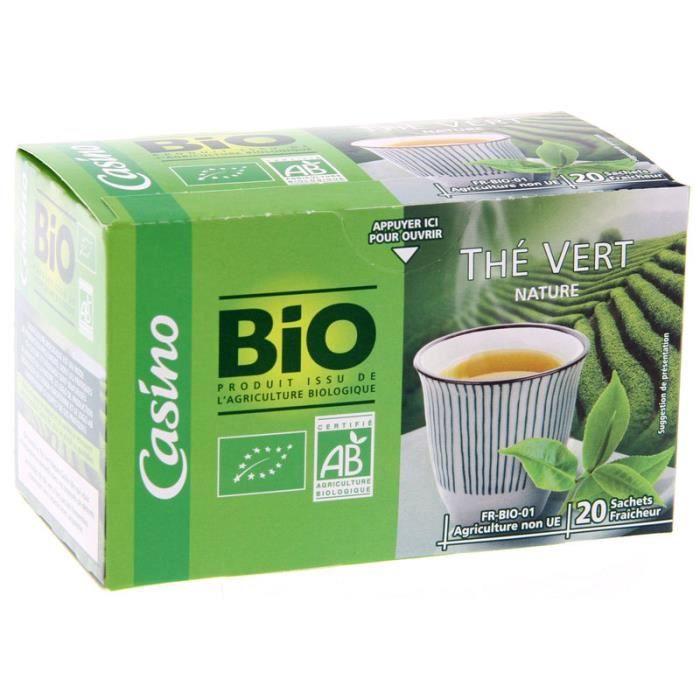 Thé vert nature bio - 36g