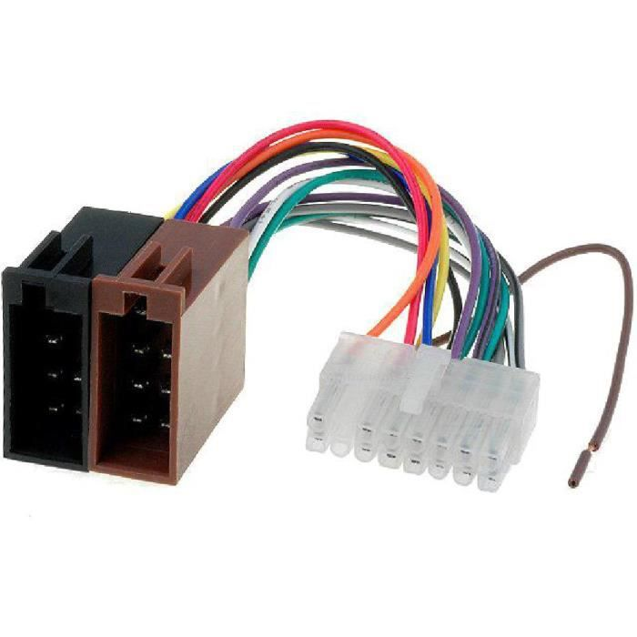 Cable Autoradio Clarion 16PIN Vers ISO - connecteur blanc 2