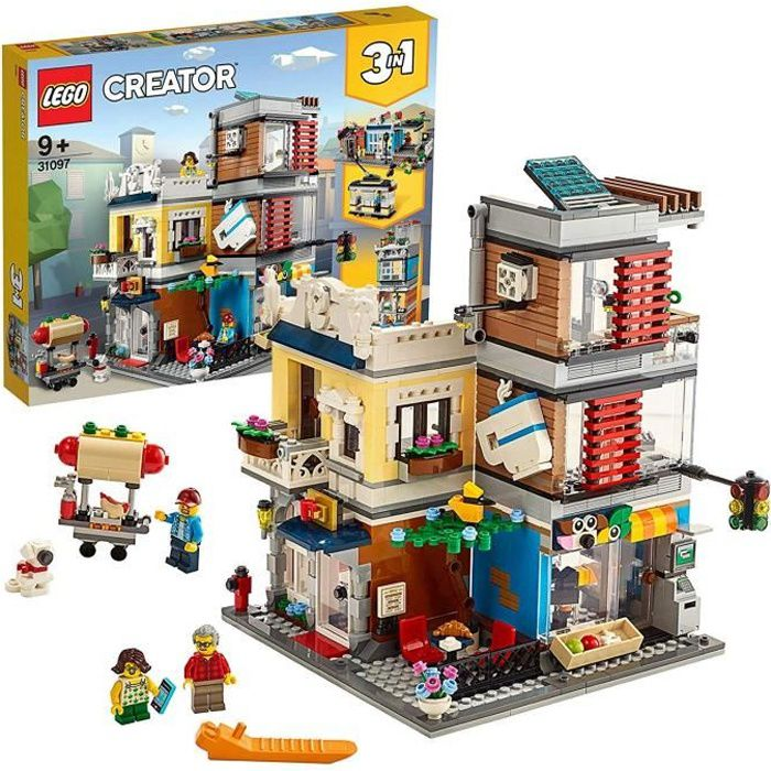 LEGO Creator - L'animalerie et le café, 9 Ans et Plus, Jeu de Création 969 Pièces - 31097