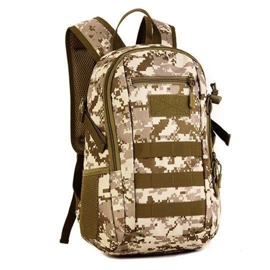 Desert digital Autre -Sac à dos militaire tactique 12l, étanche, en Nylon, armée, petit sac à dos pour Sports de plein air, Camping,