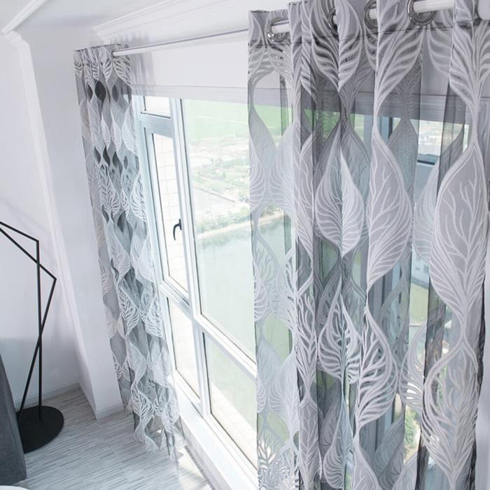 Fenêtre transparente café rideau rideaux décoratifs pour la maison chambre rideau chambre salon Rome
