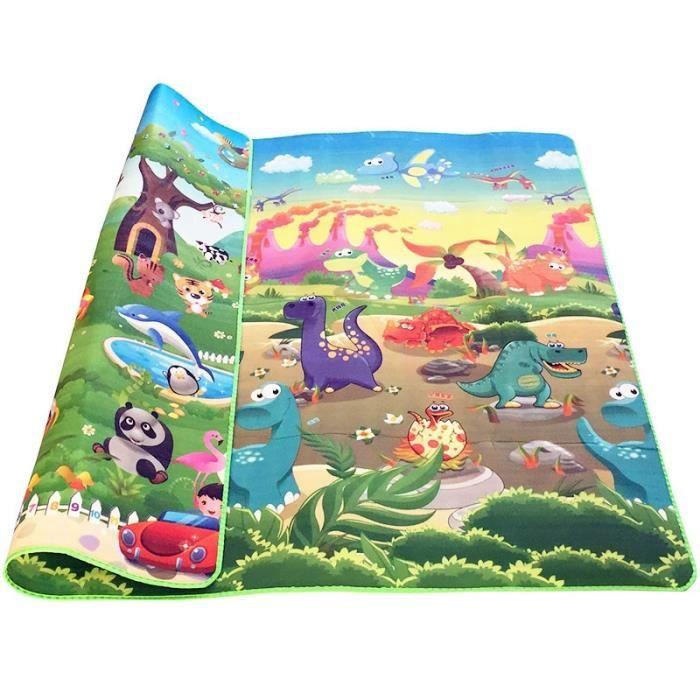 Tapis d'éveil,Bébé ramper Puzzle tapis de jeu bleu océan tapis de jeu EVA mousse enfants cadeau - Type dinosaur-panda-180cm * 120cm