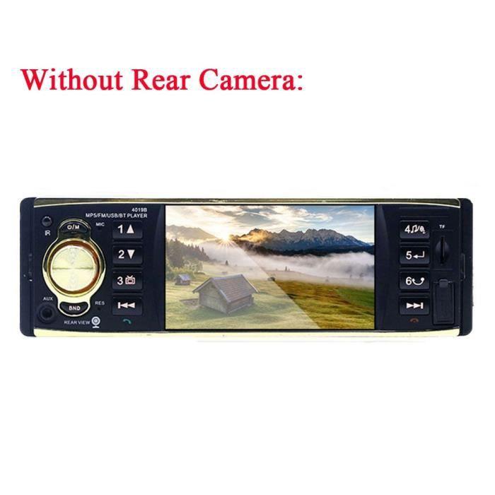 Podofo 1 Din Autoradio 4 ''écran TFT Audio stéréo MP3 lecteur Audio Bluetooth Autoradio télécommande USB - Type Without Rear Camera