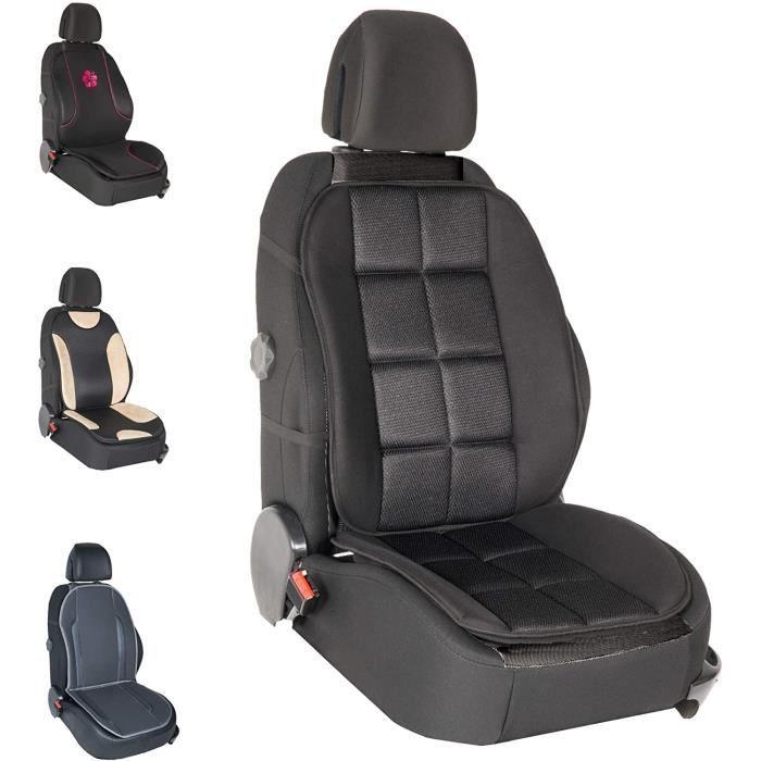 Couvre Siège - Voiture-Auto - Noir - Confort - Antidérapant - Compatible Airbag - Universel