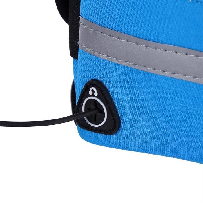 HURRISE Sac de course Unisexe Running Outdoor Jogging Voyager Cyclisme Taille Pack Ceinture Sac Pochette Imperméable (Bleu)
