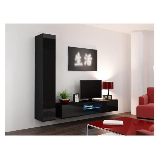 Meuble tv design SIERRO noir