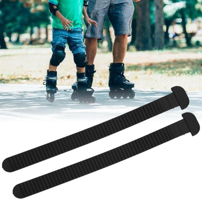 2Pcs Ceinture à Boucle d'Énergie de Chaussures de Course Sangle de Fixation pour Patins à Glace Patinage de Vitesse Roller-XIG