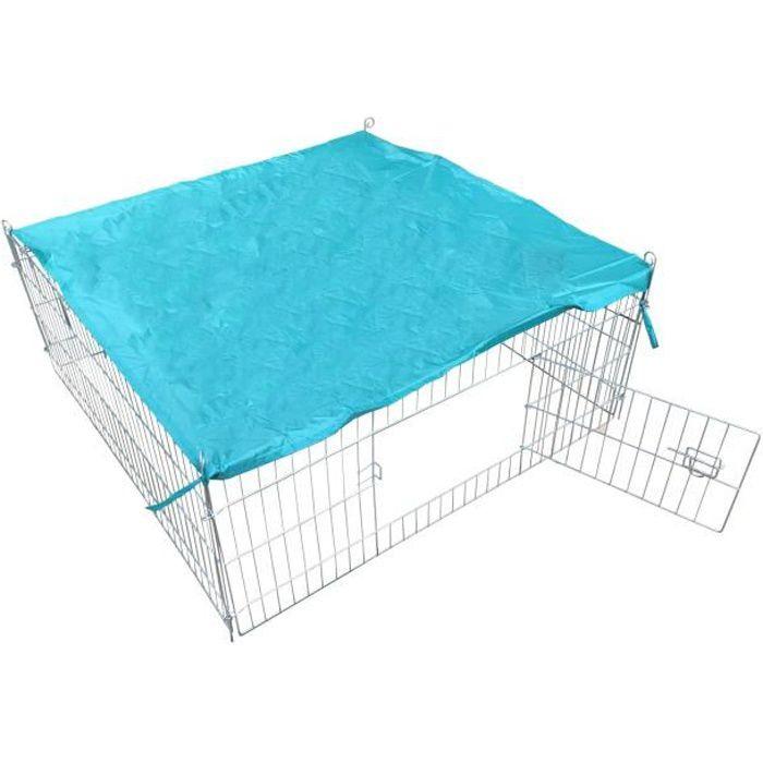 POILS & PLUMES Enclos Bunny 1 en acier 1,19x1,19x0,45 m - Pour chien