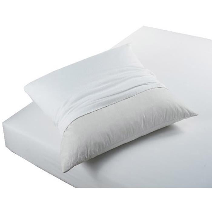 TODAY Protège Oreiller Absorbant Anti-Acariens 50x70cm - 100% Coton