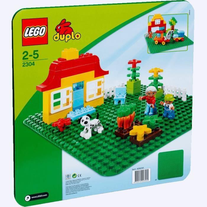 LEGO® DUPLO® 2304 Plaque de base LEGO® DUPLO® verte - Jeu de Construction