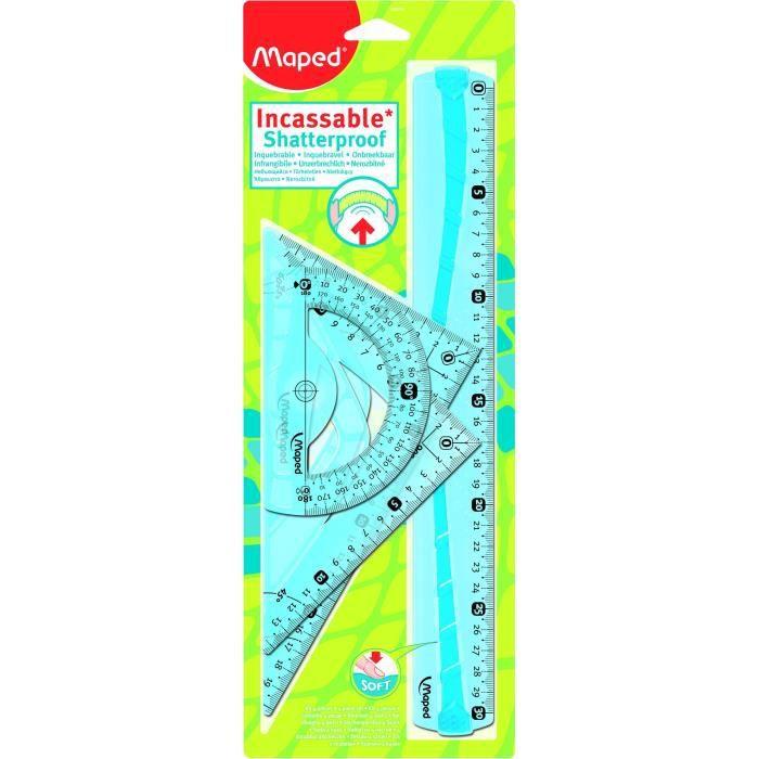 MAPED - Kit Traçage Flex Incassable 30cm 4 Pièces