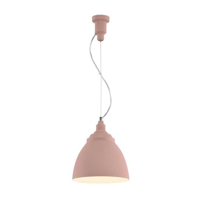 Suspension moderne, en Métal couleur rose, abat-jour fait en Métal couleur rose, excl. 1 x E27 60W 230V