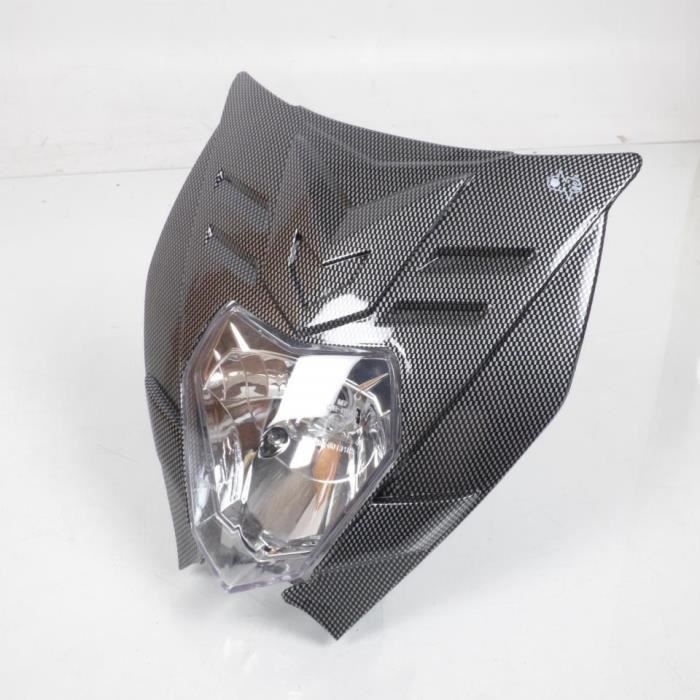 Plaque phare homologué One Felix carbone moto optique 12V BA20D 35/35W Neuf