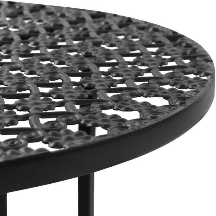 Economique Table de bistro Style vintage Ronde Métal 40 x 70 cm Noir