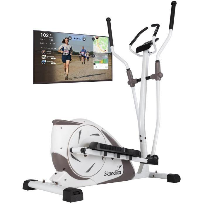 Skandika Fint - Vélo elliptique - 19 Prog.- max. 130 kg - 24 niveaux de résistance - Bluetooth - Appli