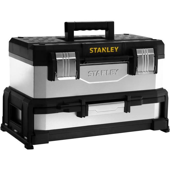 STANLEY Boite à outils à tiroir galvanisée 51cm vide