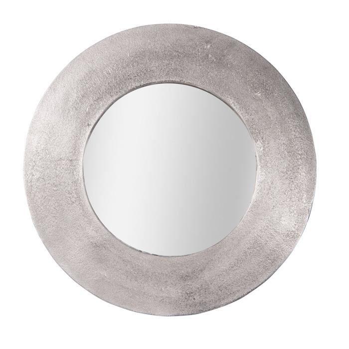 Miroir rond argenté cm - Table Passion 74 Argent