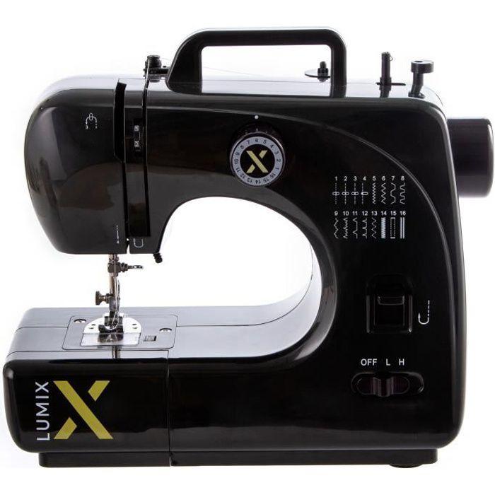 LUMIX - Machine à coudre - LUMIX16/BLK - 16 programmes - Noir