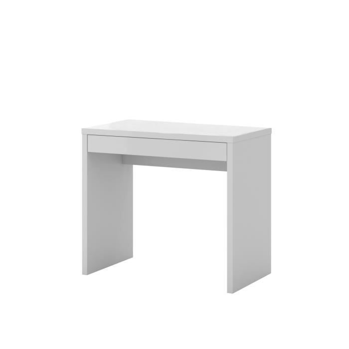 ugo bureau console 1 tiroir blanc achat vente bureau ugo bureau console 1 tiro. Black Bedroom Furniture Sets. Home Design Ideas