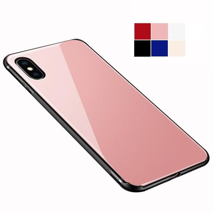coque iphone x rose or