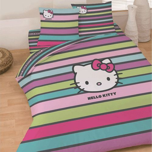 parure hello kitty. Black Bedroom Furniture Sets. Home Design Ideas