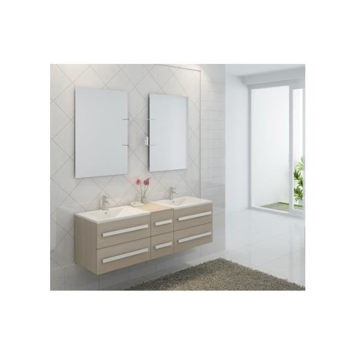 ensemble complet meuble salle de bain pure 2 vasques 2 miroirs achat vente salle de bain. Black Bedroom Furniture Sets. Home Design Ideas