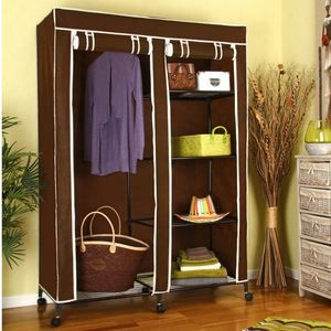 armoire de rangement avec penderie 5 tag res achat. Black Bedroom Furniture Sets. Home Design Ideas