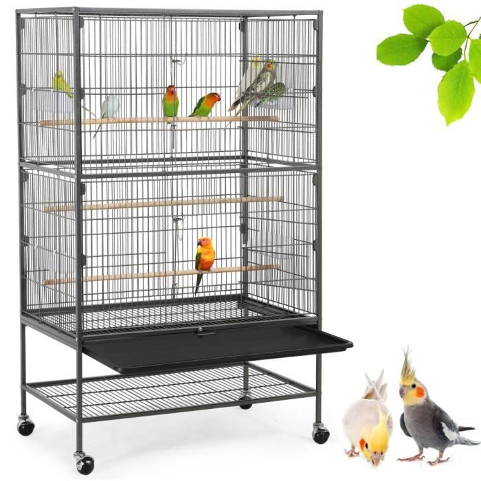 Grande cage à oiseaux perruches canaris Grande Perruche avec sans Siège Ollesch