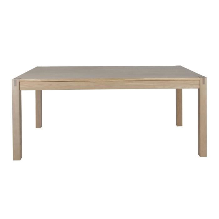Table de s jour cope en ch ne massif extensible achat for Table chene massif extensible