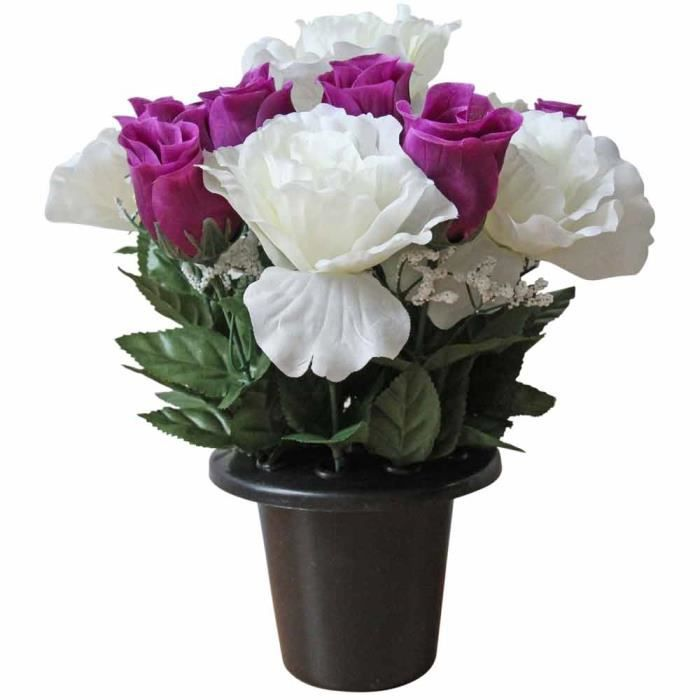 Rose artificielle violette achat vente pas cher for Rose artificielle