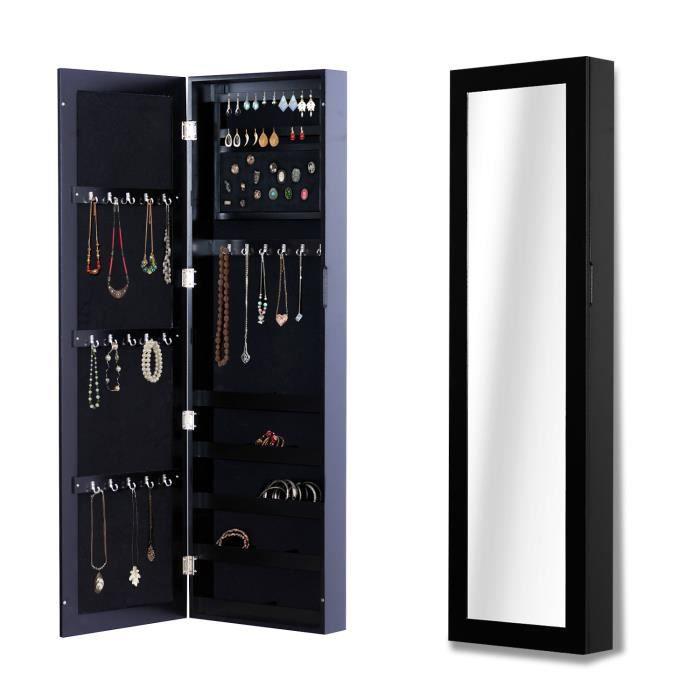 Armoire à bijoux multi-rangements avec miroir - Contemporain ...