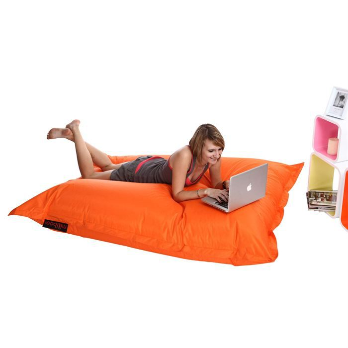 housse de pouf g ant orange big milibag achat vente housse de chaise cdiscount. Black Bedroom Furniture Sets. Home Design Ideas