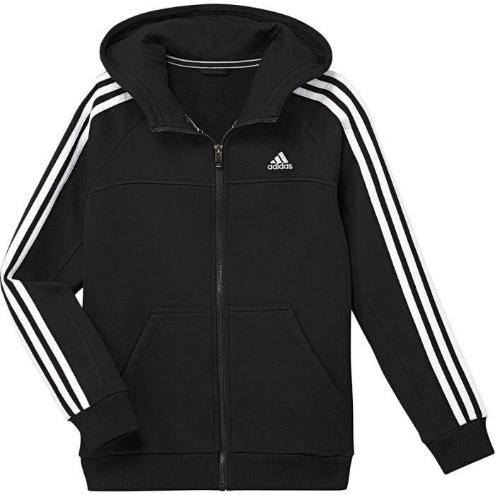 Veste à capuche Adidas Veste zip Noir Noir