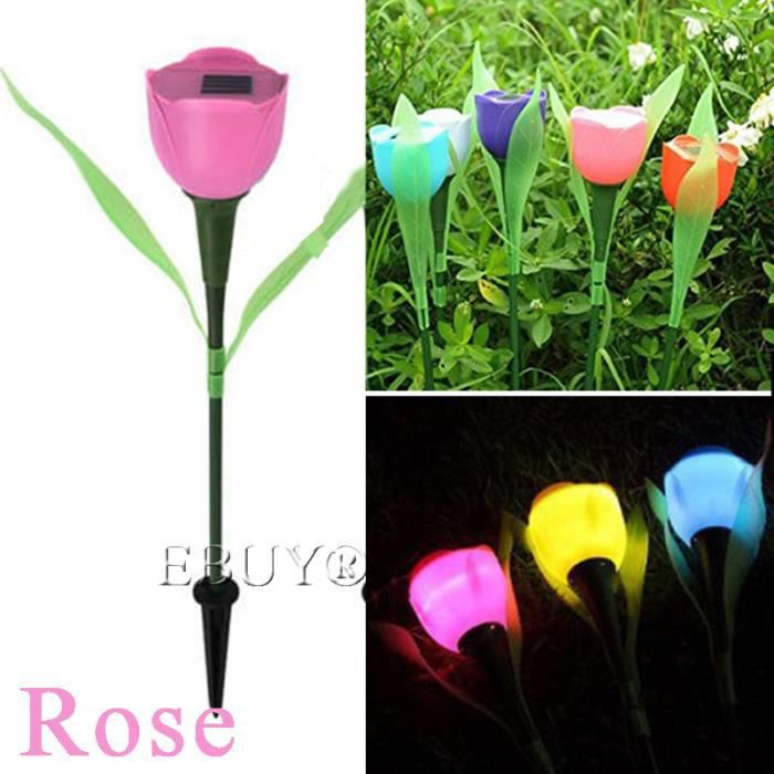 ebuy lampe solaire de jardin led tulipe en forme de fleur stake lumi re achat vente ebuy. Black Bedroom Furniture Sets. Home Design Ideas