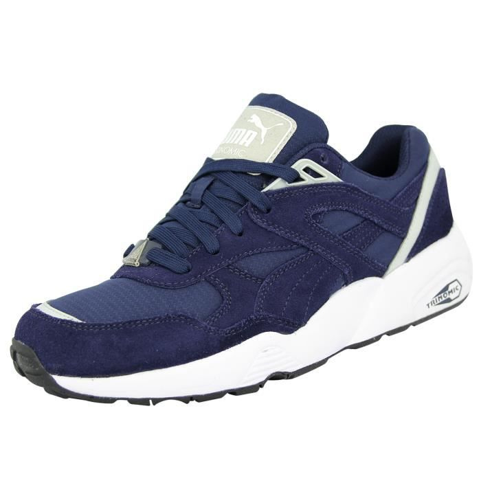 Puma R698 Core Chaussures Mode Sneakers Homme Bleu