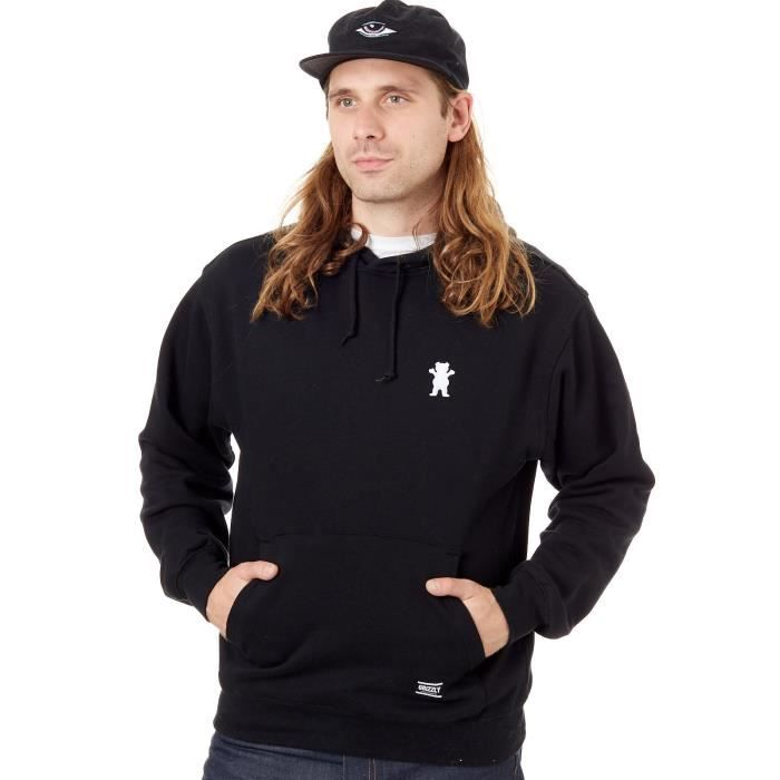 Sweat Grizzly OG Bear Embroidered Noir Blanc Noir Achat