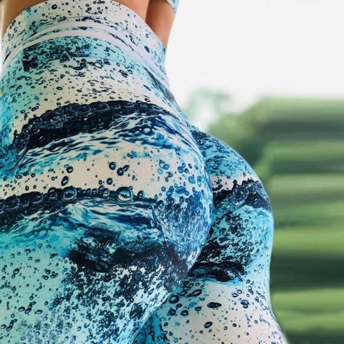 PANTALON DE SUDATION Mode féminine taille haute Leggings solide Push Up
