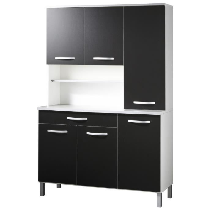 harmony buffet de cuisine contemporain noir et blanc l. Black Bedroom Furniture Sets. Home Design Ideas