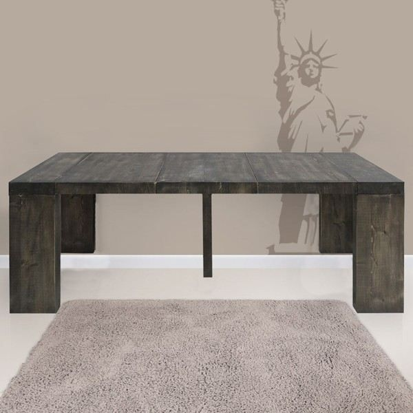 table console extensible natura en bois massif achat vente console table console extensible. Black Bedroom Furniture Sets. Home Design Ideas